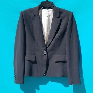 Kasper Black Fully Lined Blazer Jacket Size 10